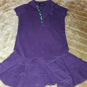 Purple Ralph Lauren Girls Dress Sz 7